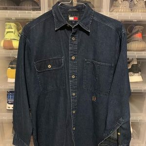 Vintage Tommy Hilfiger Jean Denim Button Up Shirt